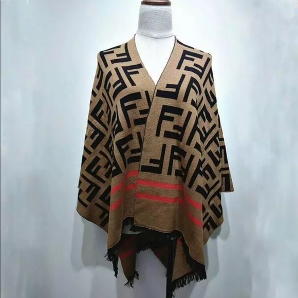 F Sweater Cape Shawl Wrap NWT